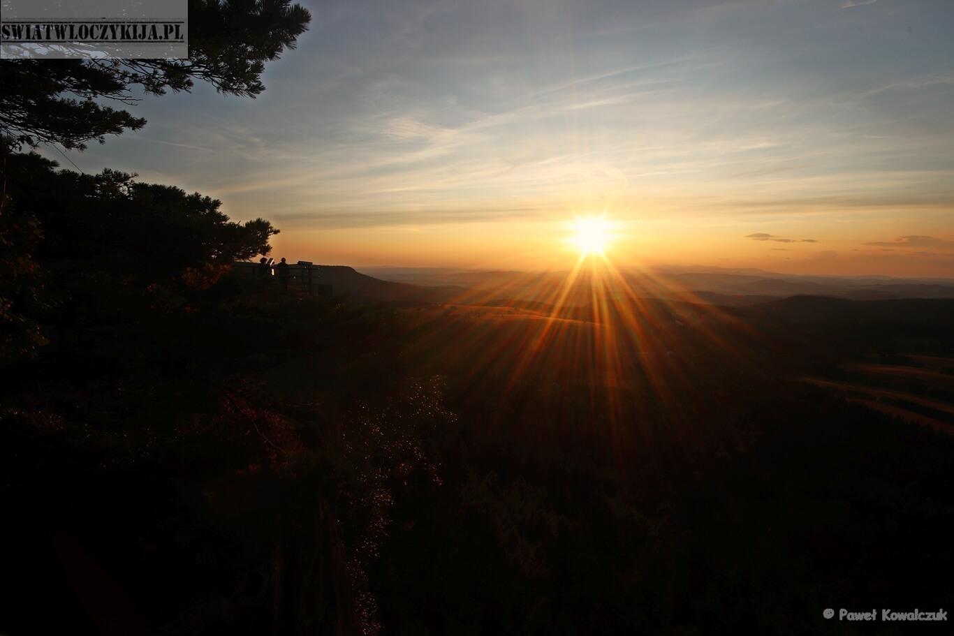 Szczeliniec - zachód słońca