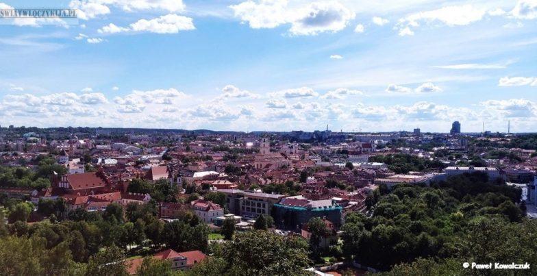Wilno - panorama miasta z Góry Trzech Krzyży