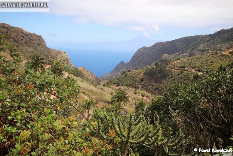 Widok z restauracji Las Rosas - La Gomera - Wyspy Kanaryjskie