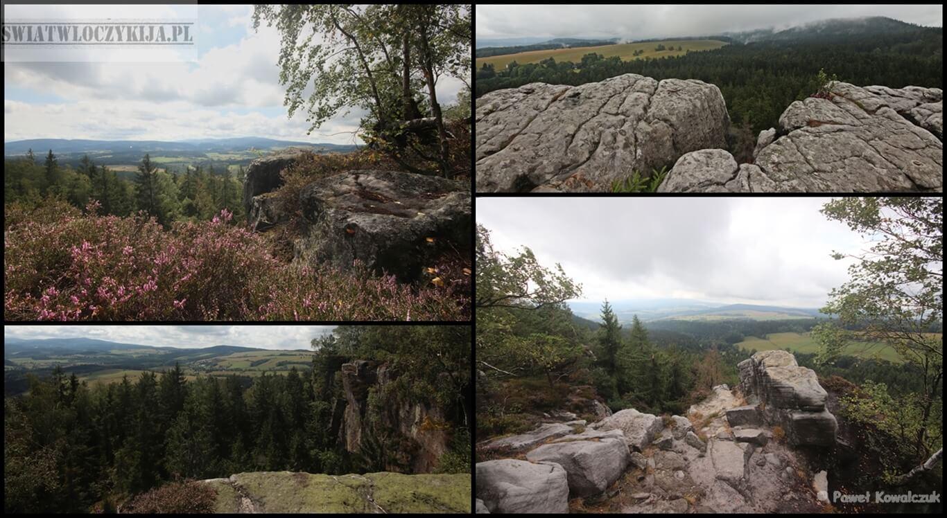 Punkty widokowe z tzw. Narożnika w Górach Stołowych.